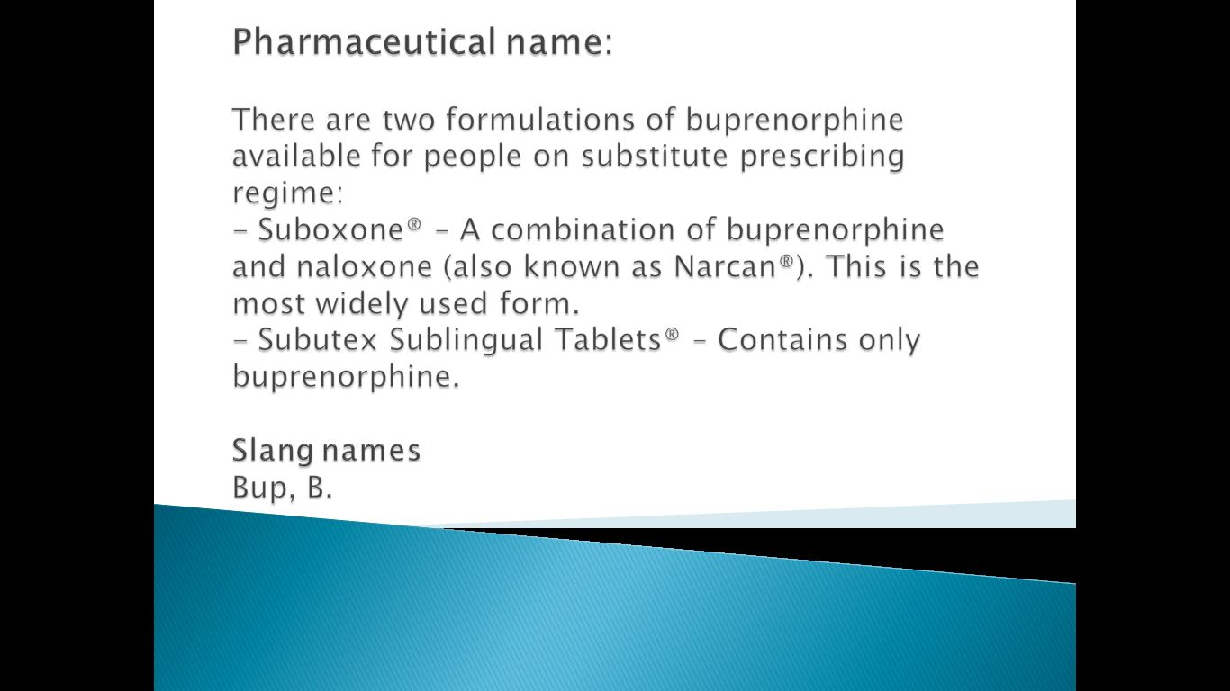 buprenorphine-pharmaceutical-name