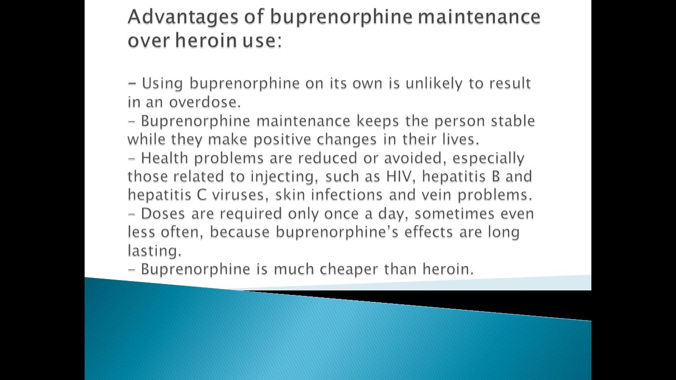 buprenorphine-advantages