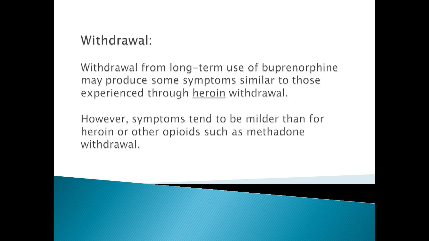buprenorphine-withdrawal